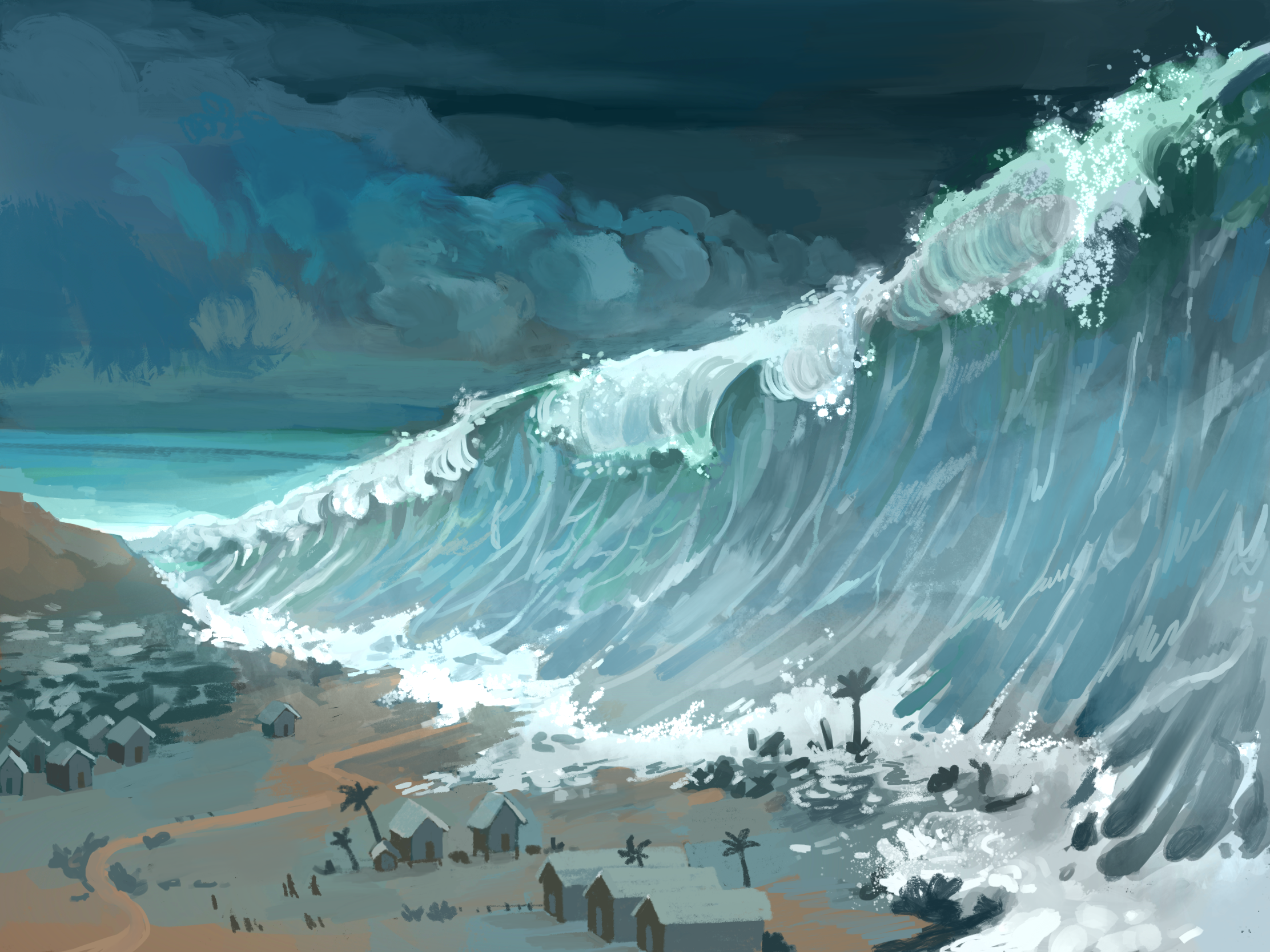 Tsunami artwork by Camille fourcade