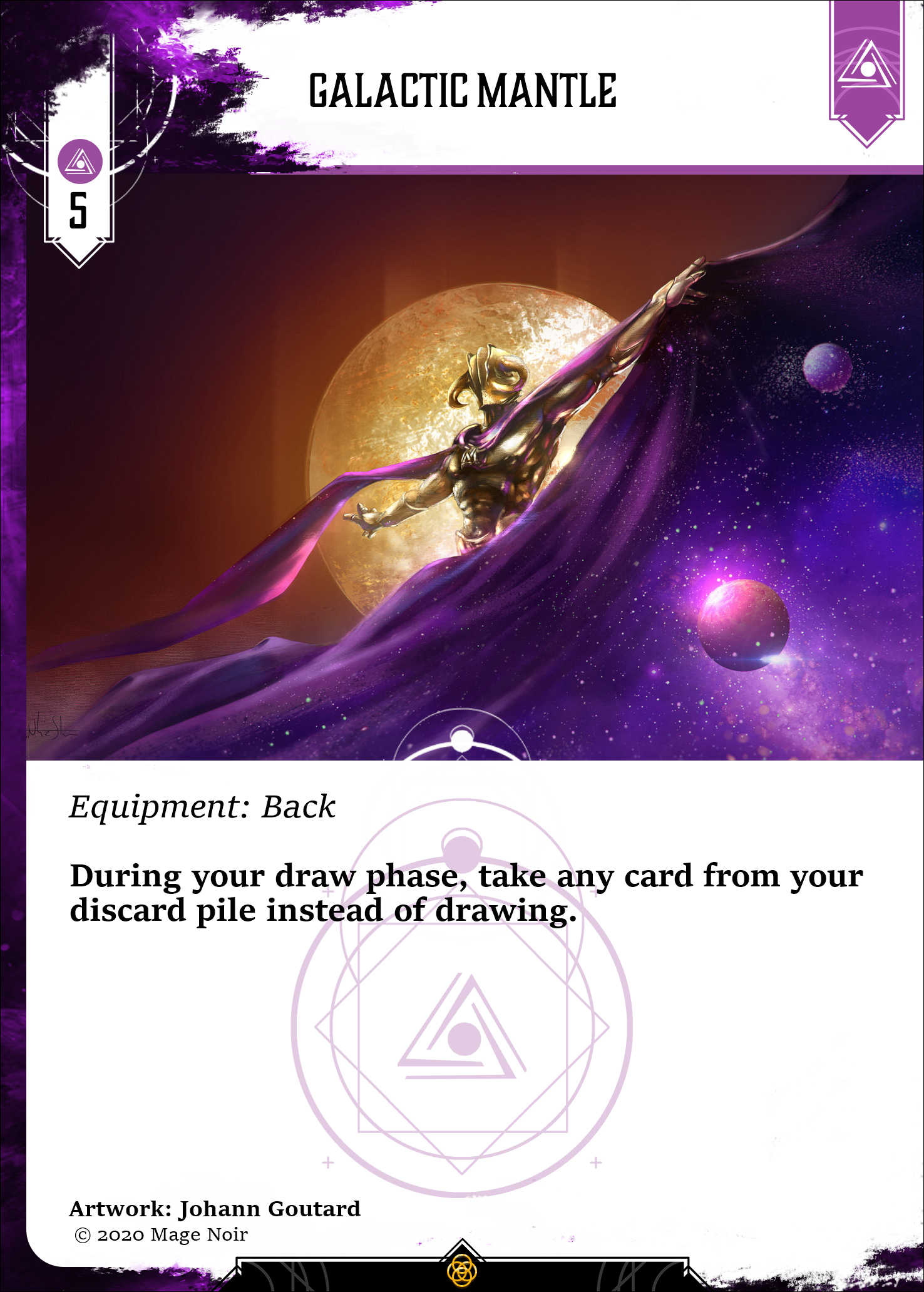 Galactic mantle card